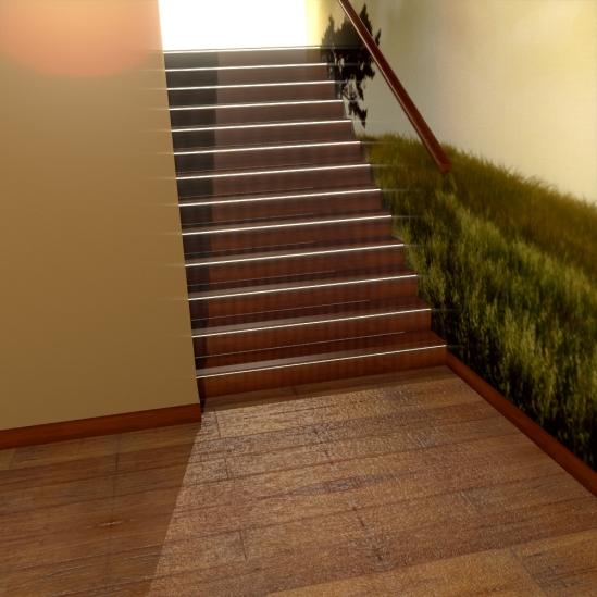 projekt klatki schodowej, schody w domu