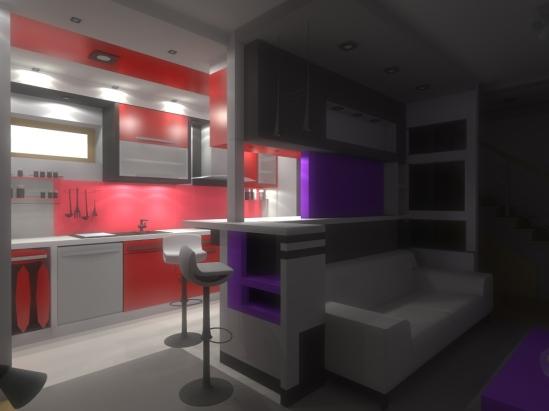 biało czarna kuchnia