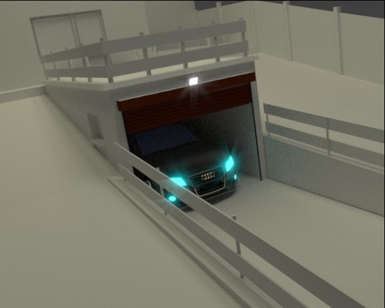 projekt wjazdu garażowego architektów
