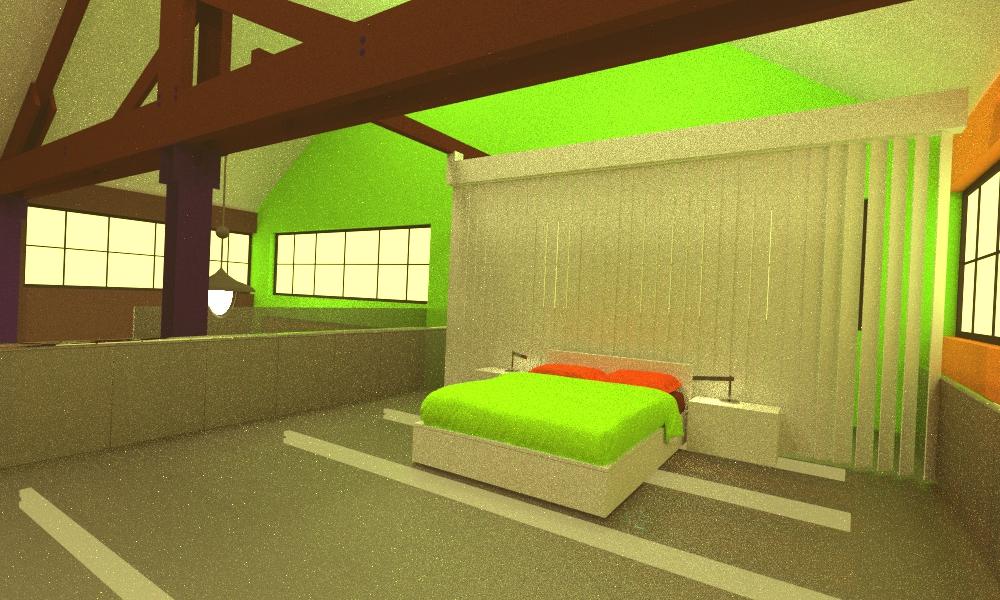 sypialnia w lofcie